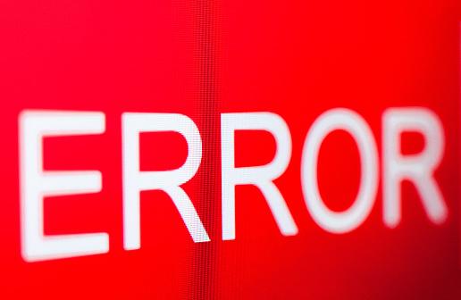 istock Computer error. 1216583324