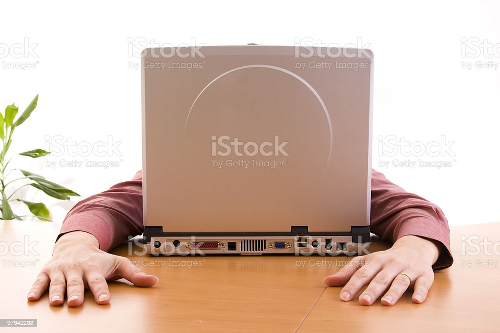 computer face royalty-free stock photo