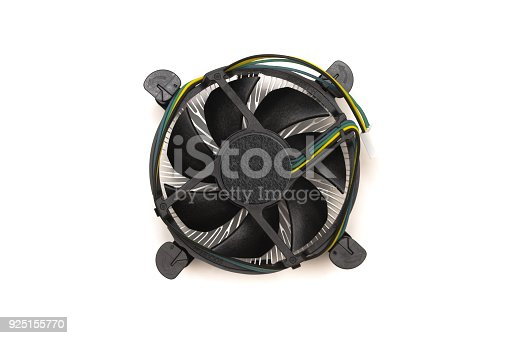 istock Computer fan cooler of CPU. 925155770