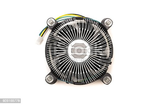 istock Computer fan cooler of CPU. 925155778