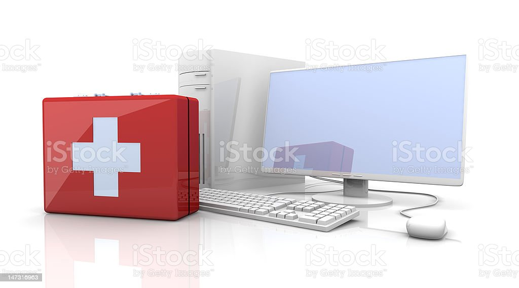 Computer First aid royalty-free stock photo