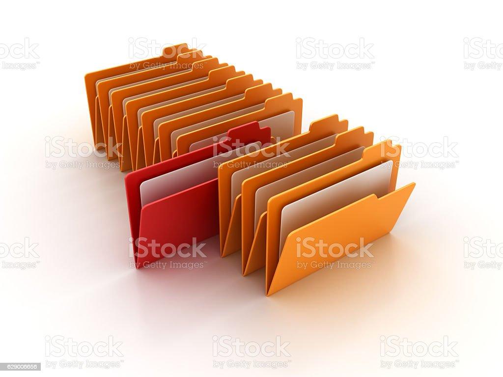 Computer Folders - 3D Rendering stock photo