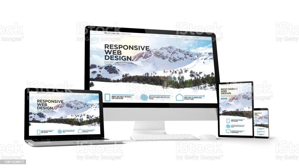 Computer-Gadgets mit ansprechende Website auf dem Bildschirm – Foto