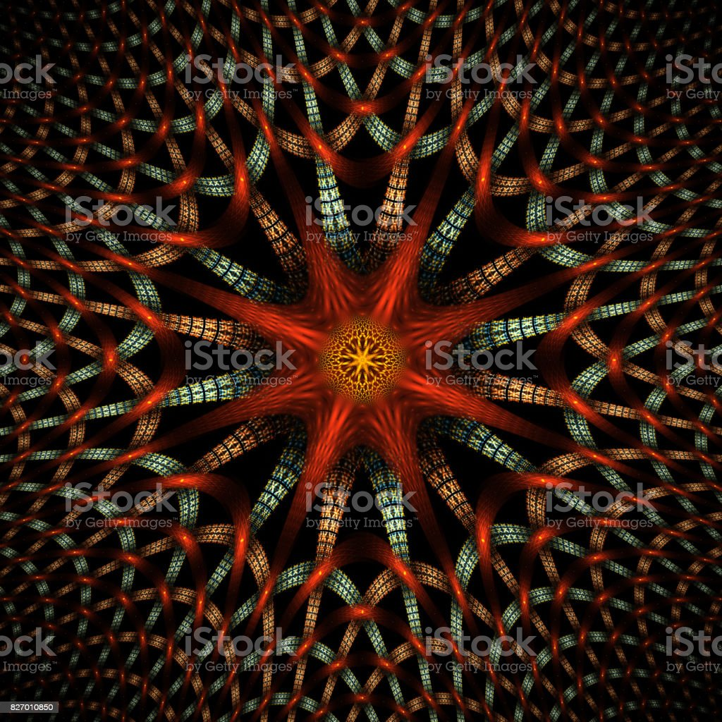 Computer Generated Fractal Image stock photo