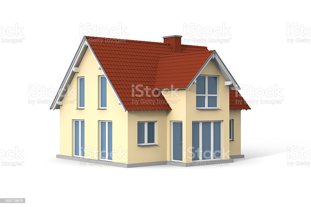 Computer generated image of a house stock photo