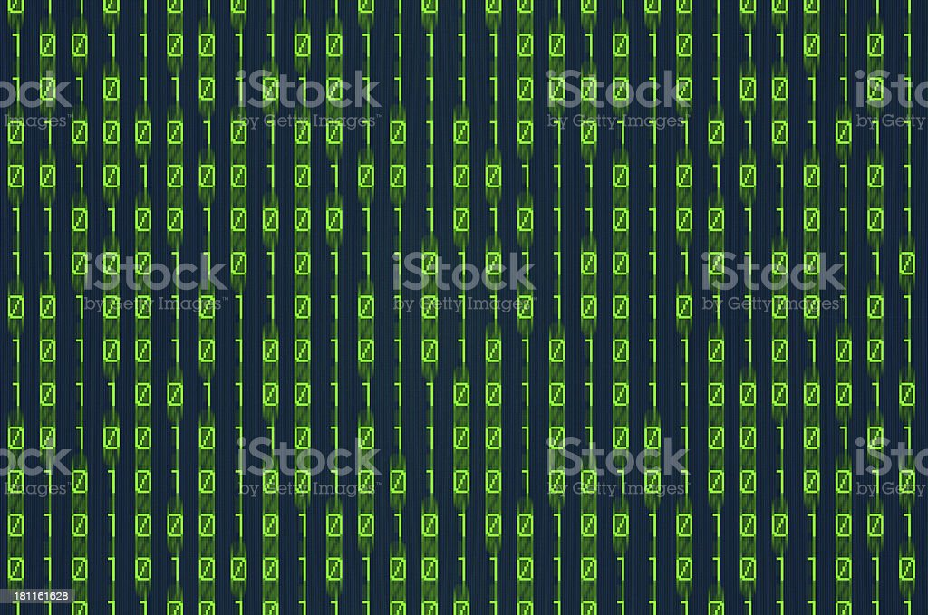 Computer generated image of green binary code stock photo