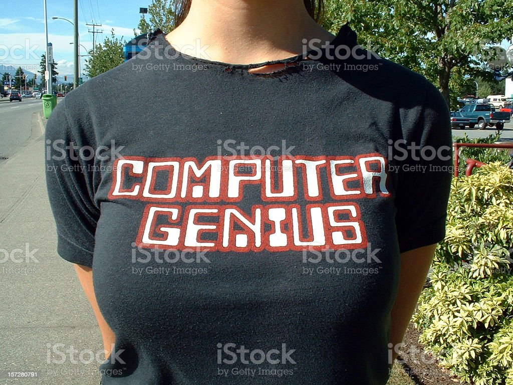 Computer Genius royalty-free stock photo