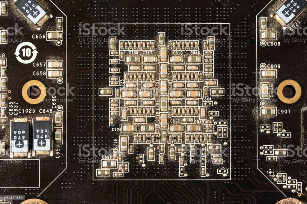 computer graphics card close-up. royalty-free stock photo