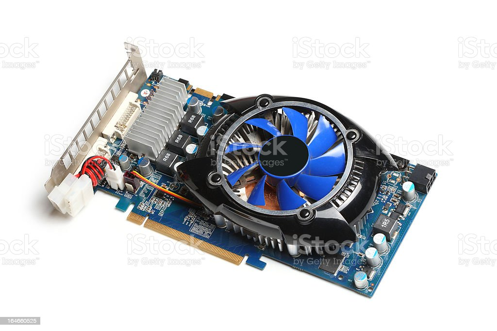 computer graphics card royalty-free stock photo