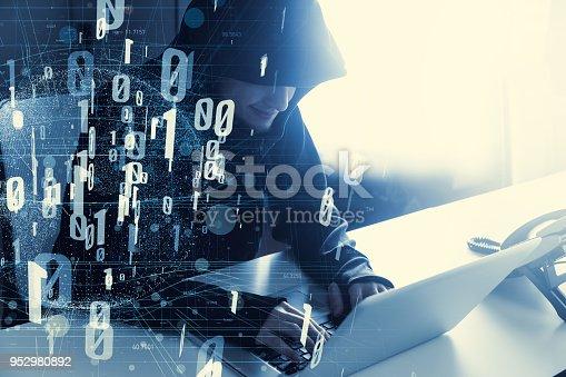 istock Computer hacker concept. 952980892