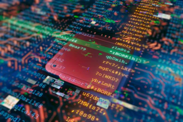 Computer Hacker stock photo