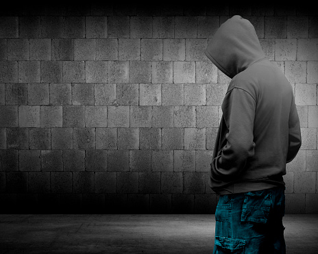 istock Computer hacker silhouette of hooded man 483918728