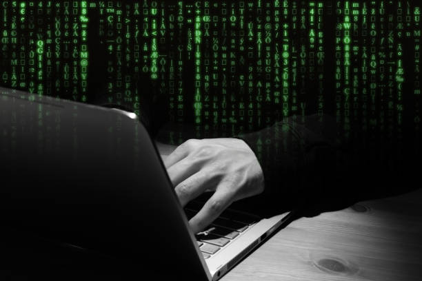 computer hacker - unsecured network concept. - www xx stock photos and pictures