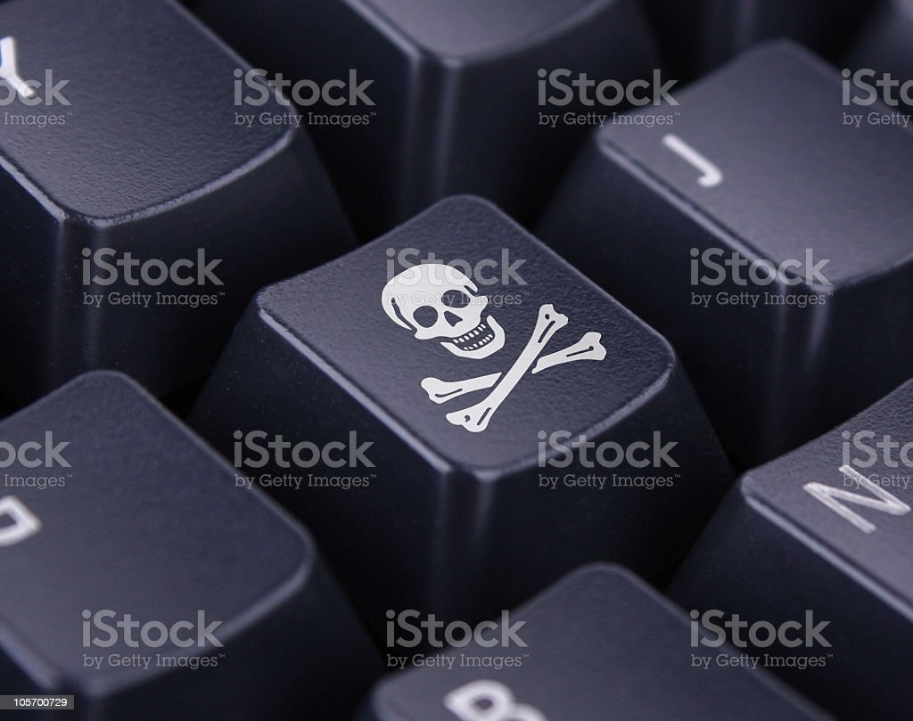 Computer Hacking royalty-free stock photo