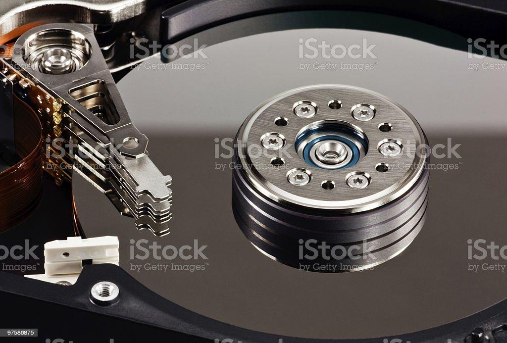 Ordinateur disque sur 4 photo libre de droits