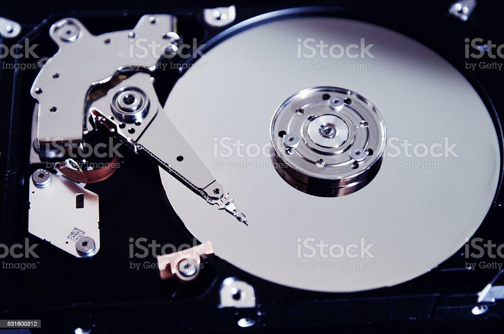 computer Hard drive  open stock photo