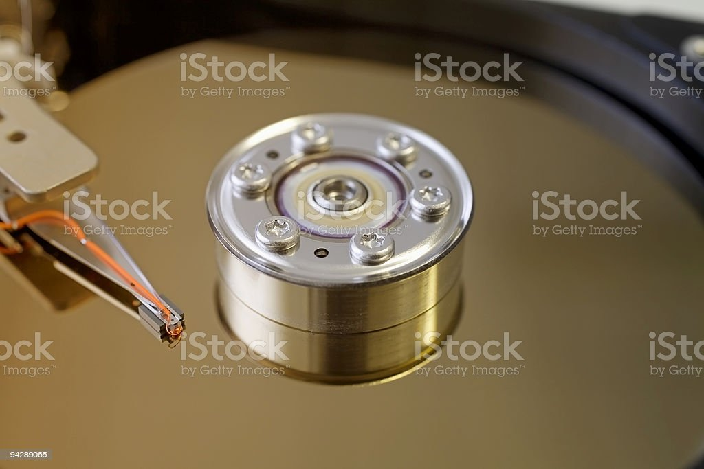 computer harddisk detail royalty-free stock photo
