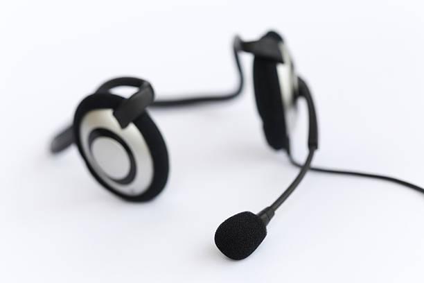 Computer Headset stock photo