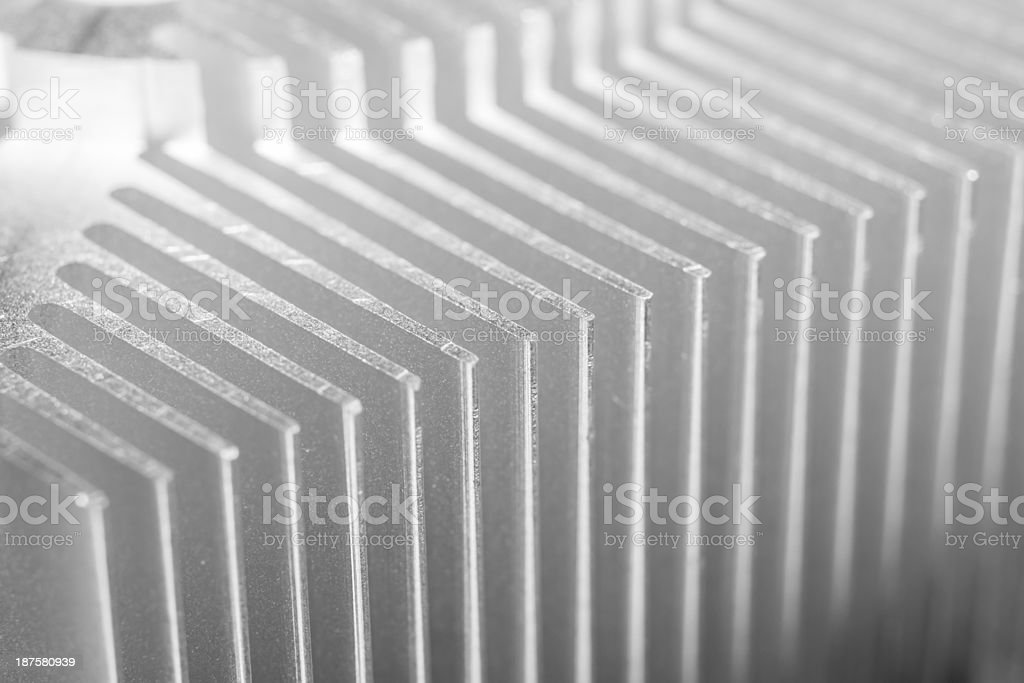 computer heat sync or cooling fins royalty-free stock photo