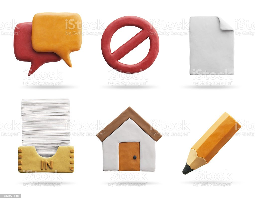 Icone di argilla/Web & Internet (con Clipping Path - foto stock