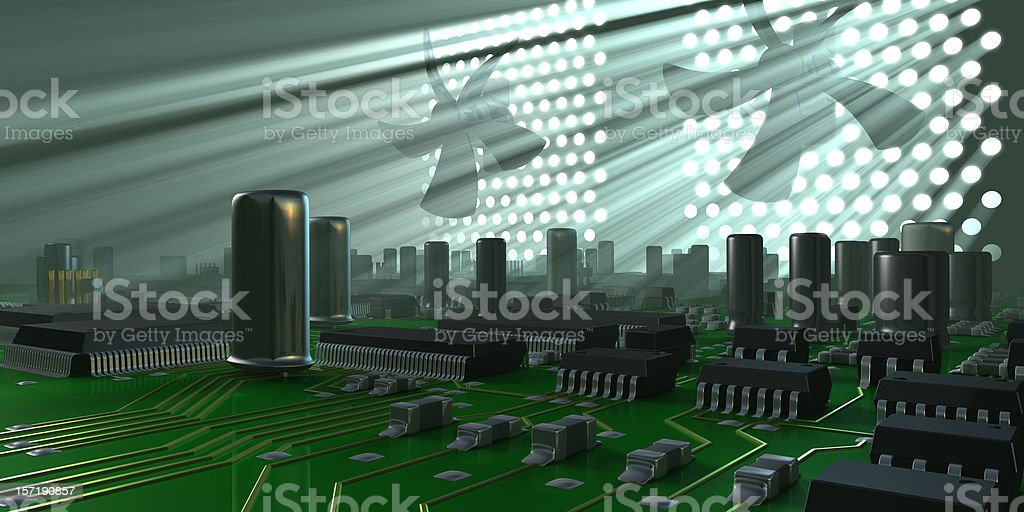 Computer inside royalty-free stock photo