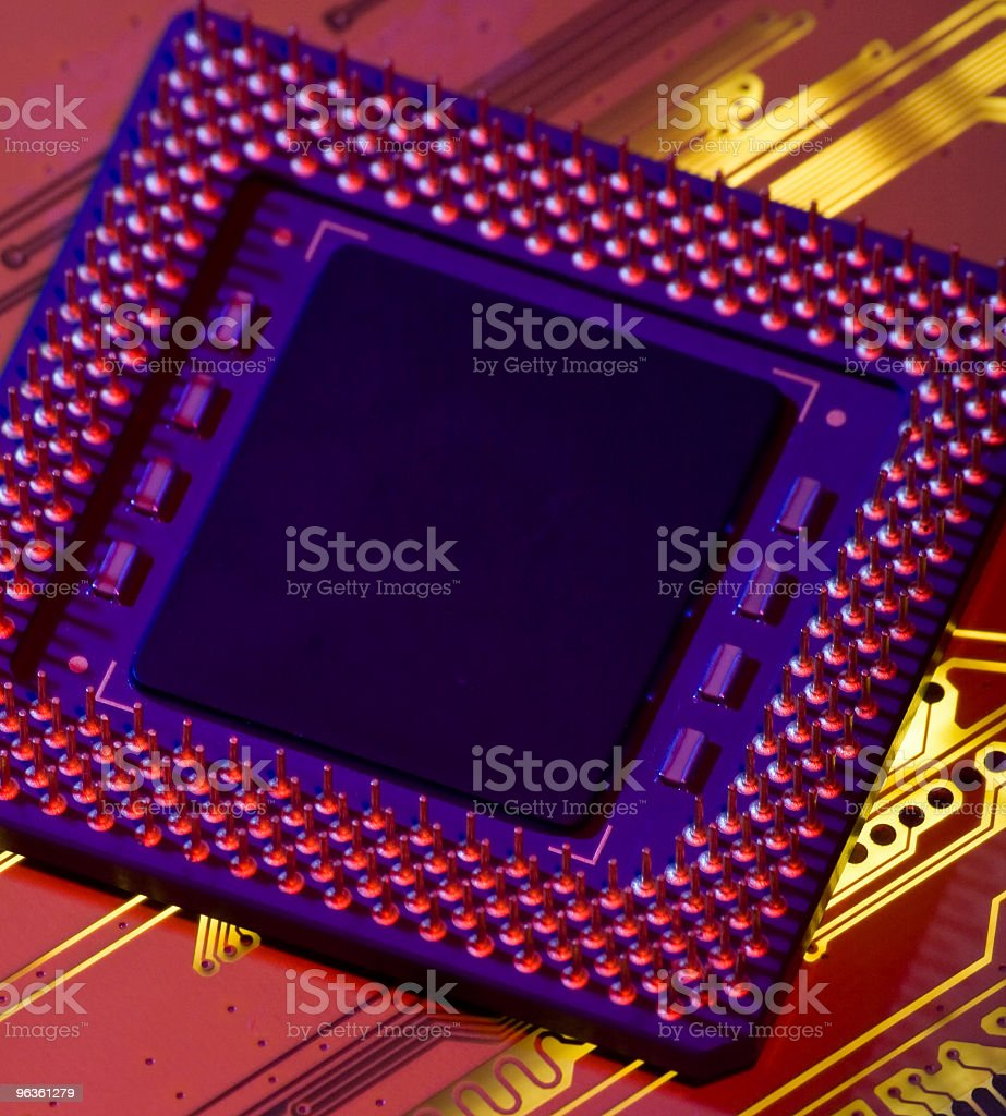 Computer Inside stock photo
