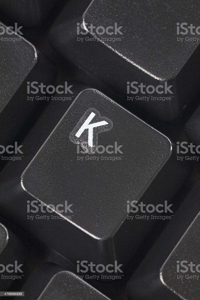 computer K key stock photo