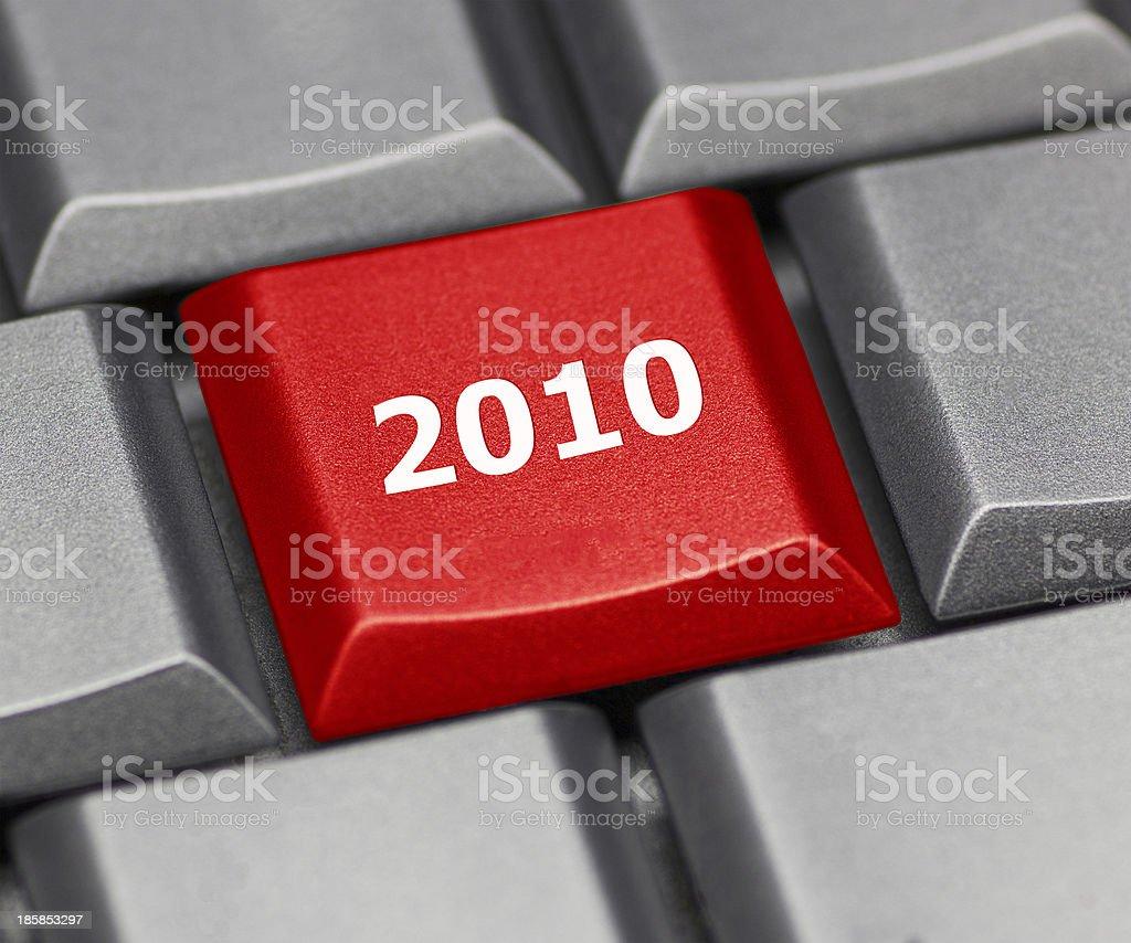 computer key - 2010 stock photo
