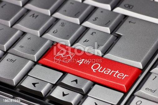 istock Computer key - 4th quarter 186281544