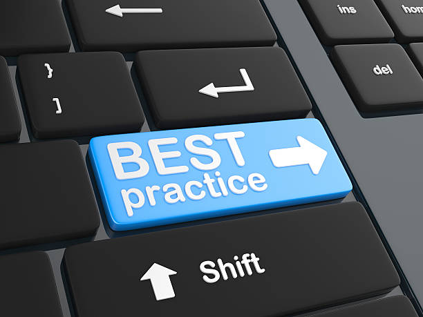 Computer key - Best Practice stock photo
