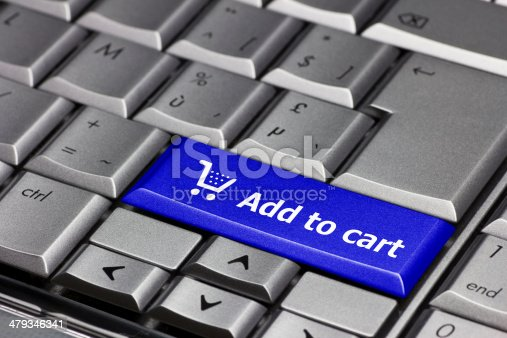 istock Computer Key blue - Add to cart 479346341