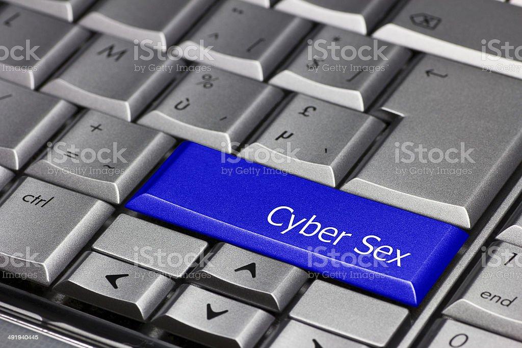 Computer key blue - Cyber Sex stock photo