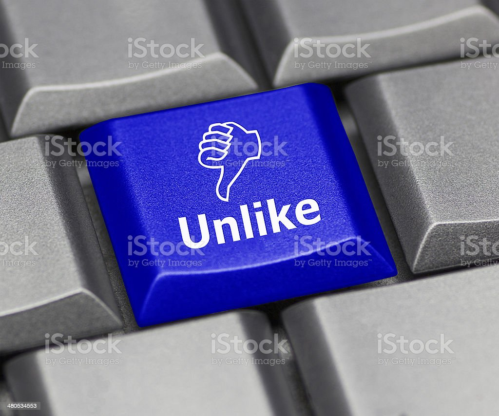 Computer key blue - Unlike royalty-free stock photo