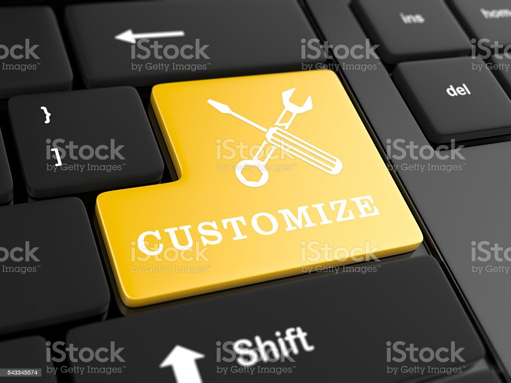 Computer key - Customize stock photo
