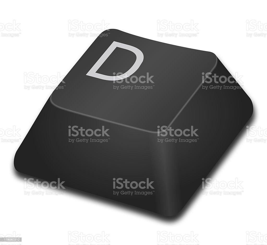 Computer Key - D stock photo