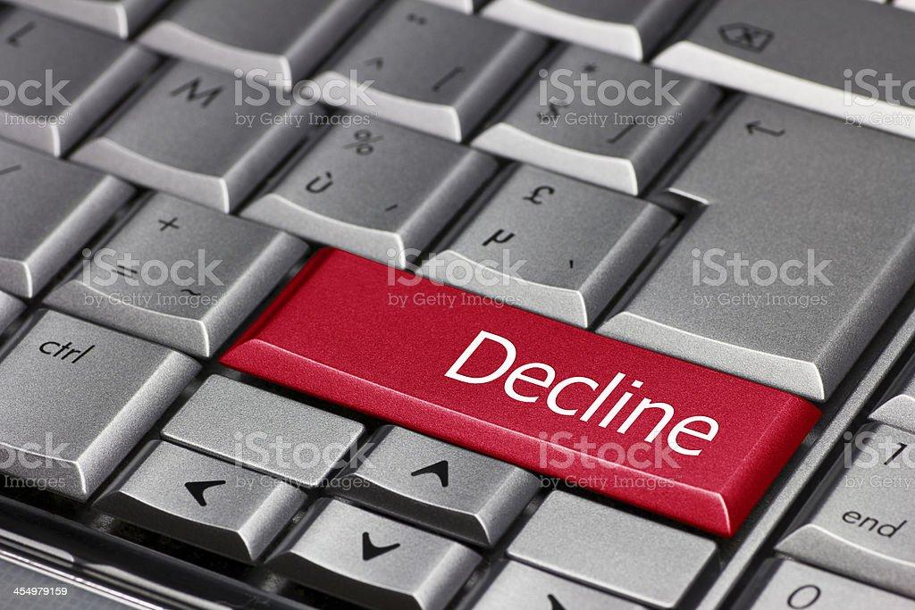 computer key - Decline stock photo