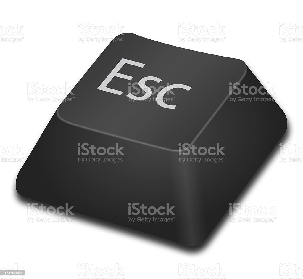Computer Key - Esc stock photo