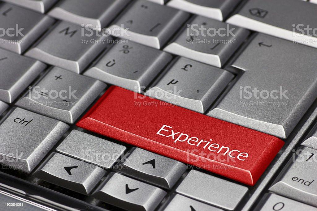 Computer Key - Experience stock photo