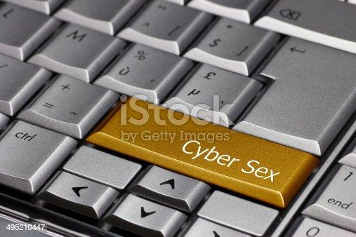 istock Computer key gold - Cyber Sex 495210447