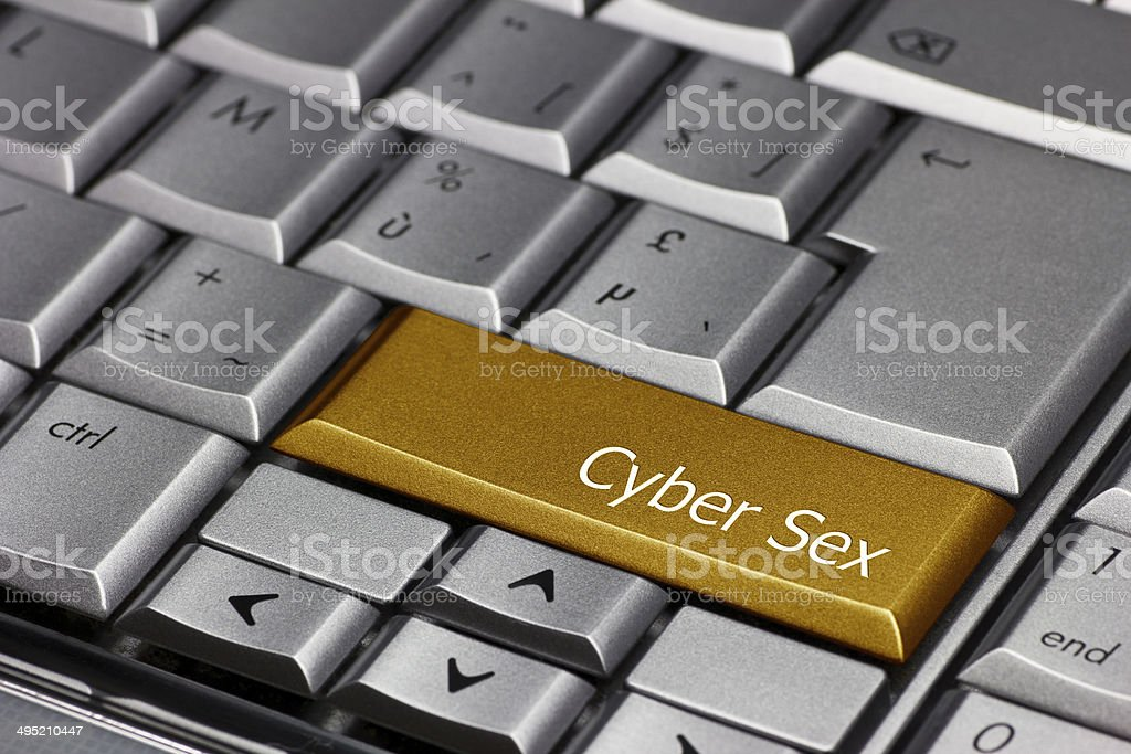 Computer key gold - Cyber Sex stock photo