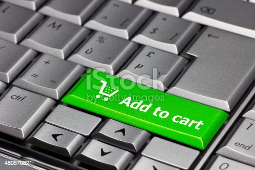 istock Computer Key green - Add to cart 480570821