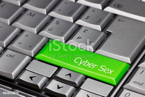 istock Computer key green - Cyber Sex 494603675