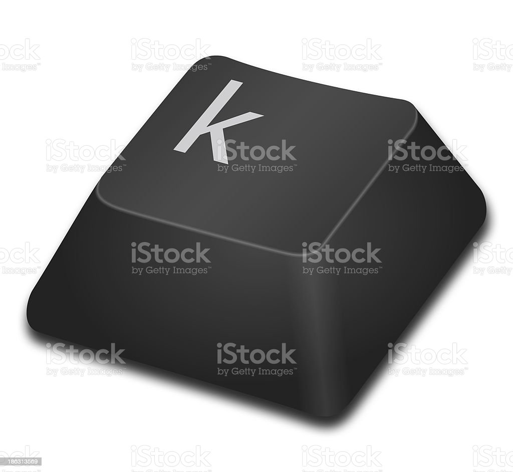 Computer Key - k stock photo