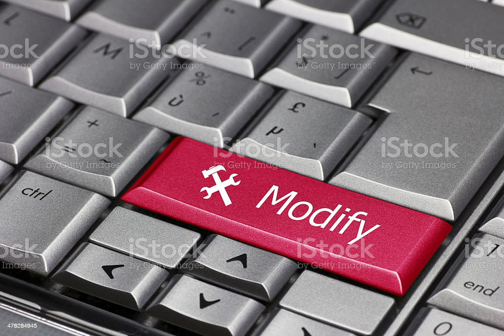 Computer Key Modify Socket Wrench Symbol Stock Photo More Pictures
