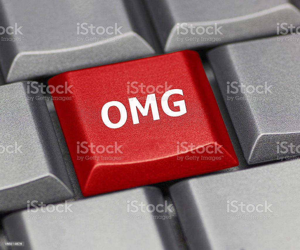 Computer key - OMG royalty-free stock photo