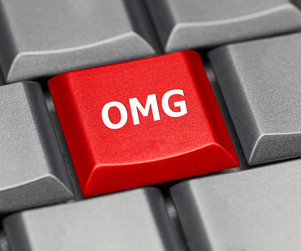 computer key - omg - omg stock photos and pictures
