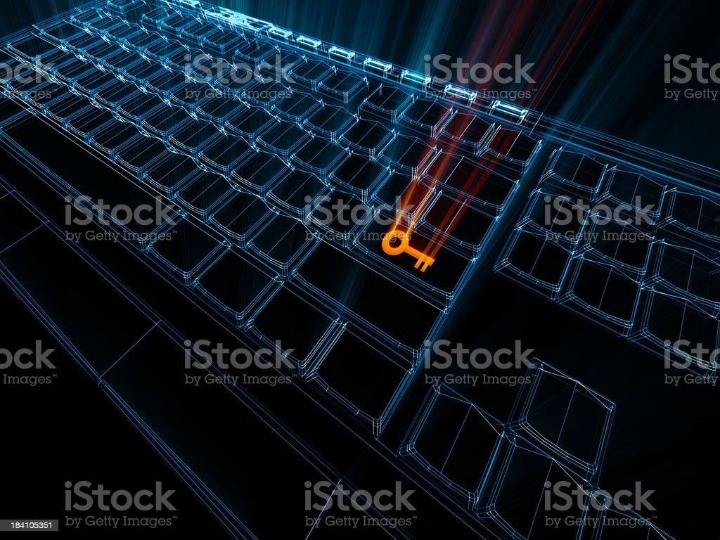 Computer Key royalty-free stock photo