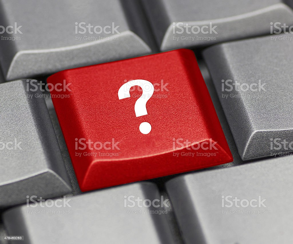 Computer key red - question mark stock photo