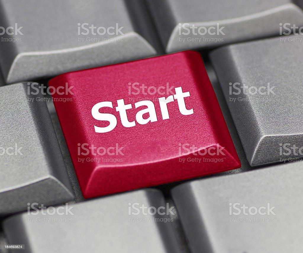 computer key red - Start royalty-free stock photo