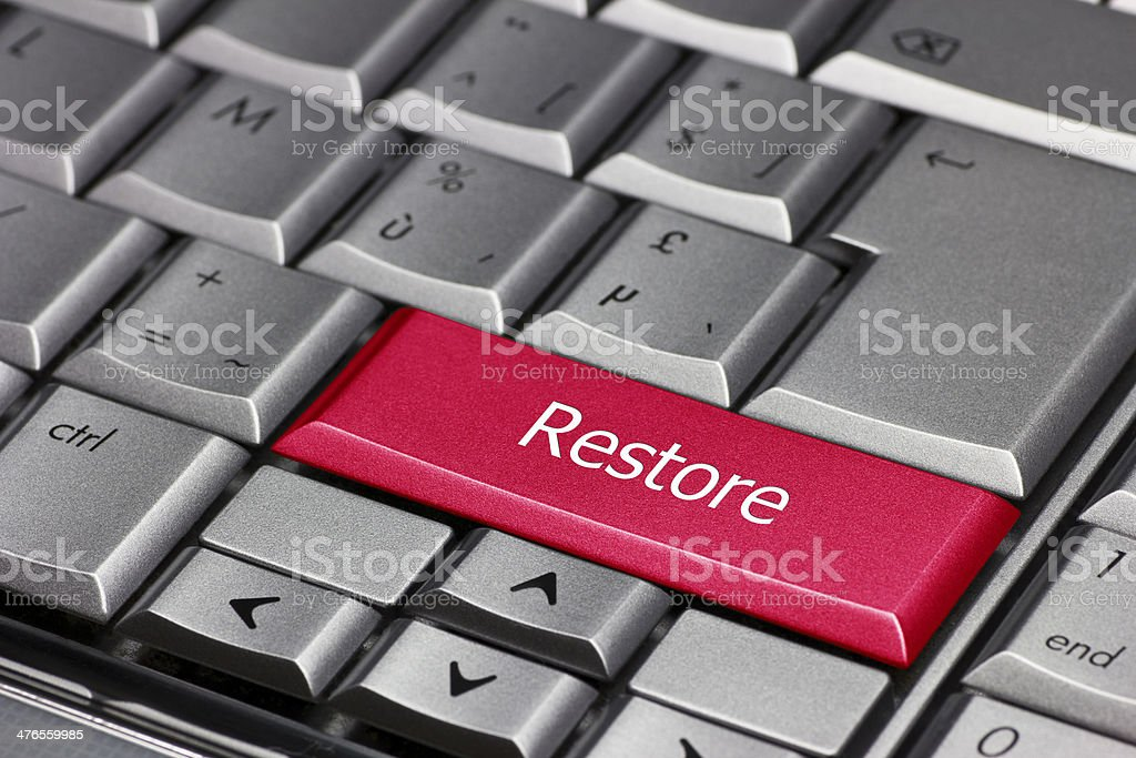 Computer key - Restore stock photo